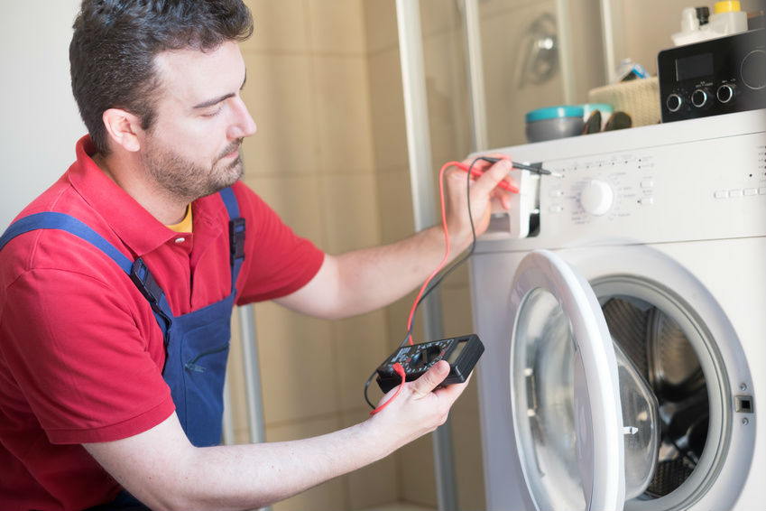 Washing machine diagnostic test