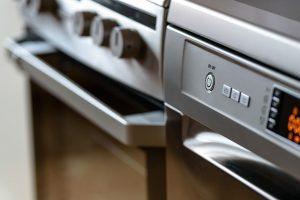 Oven front closeup