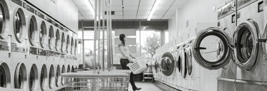 Black & white washing machines