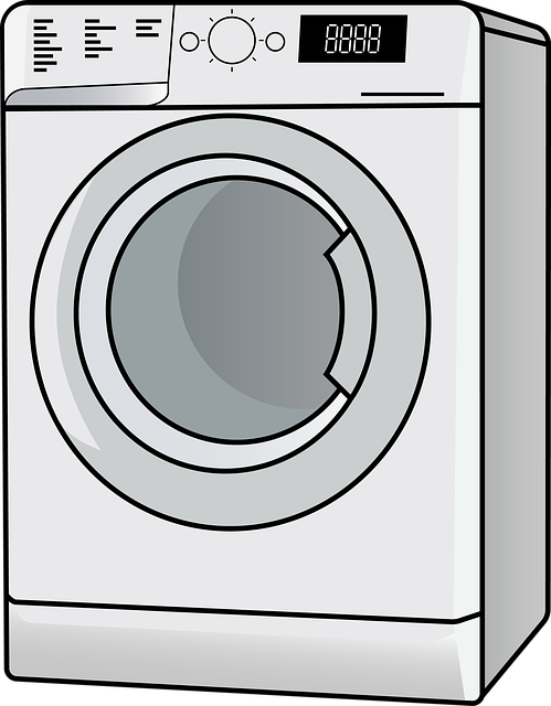 Gray washing machine icon