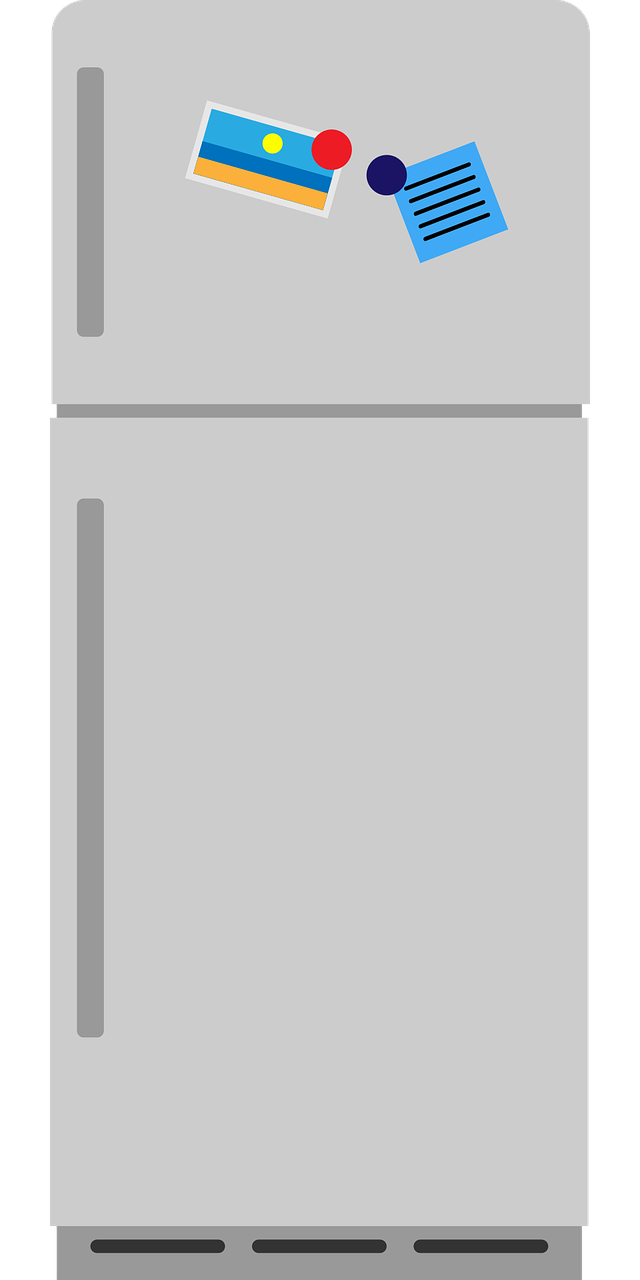 Fridge with freezer icon