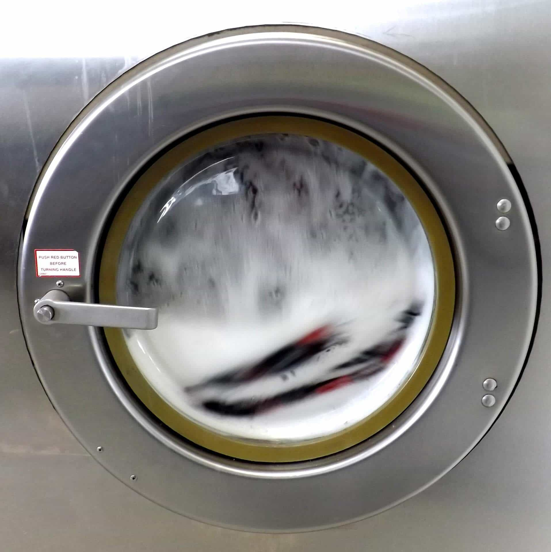 Washing Machine washes clothes