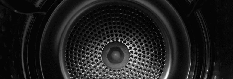 Inside the tumble dryer
