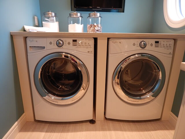 washing machines in the kitchen