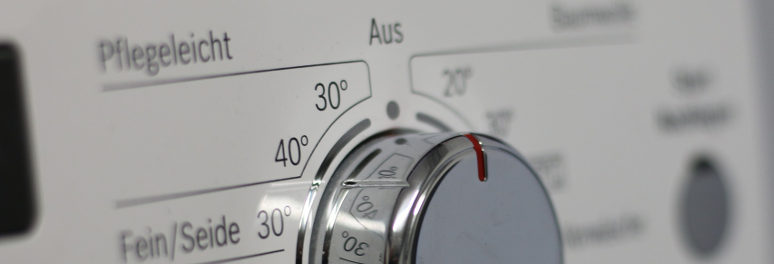 close up of a washing machine