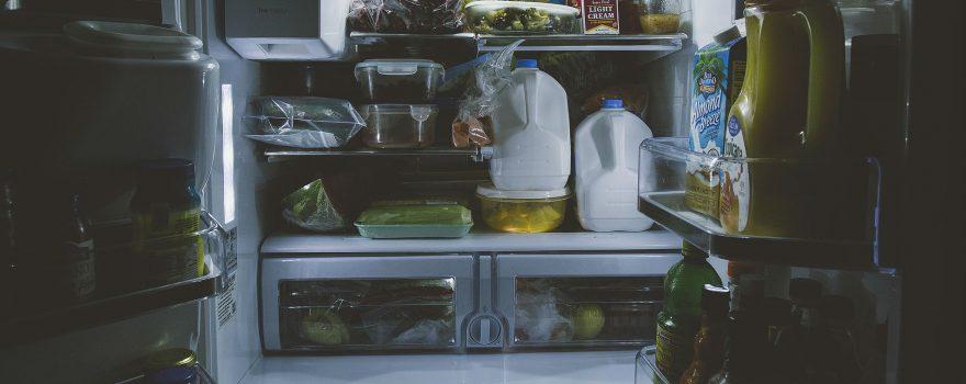 fridge door wide open