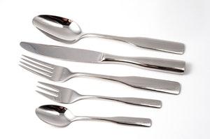 shiny silver cutlery