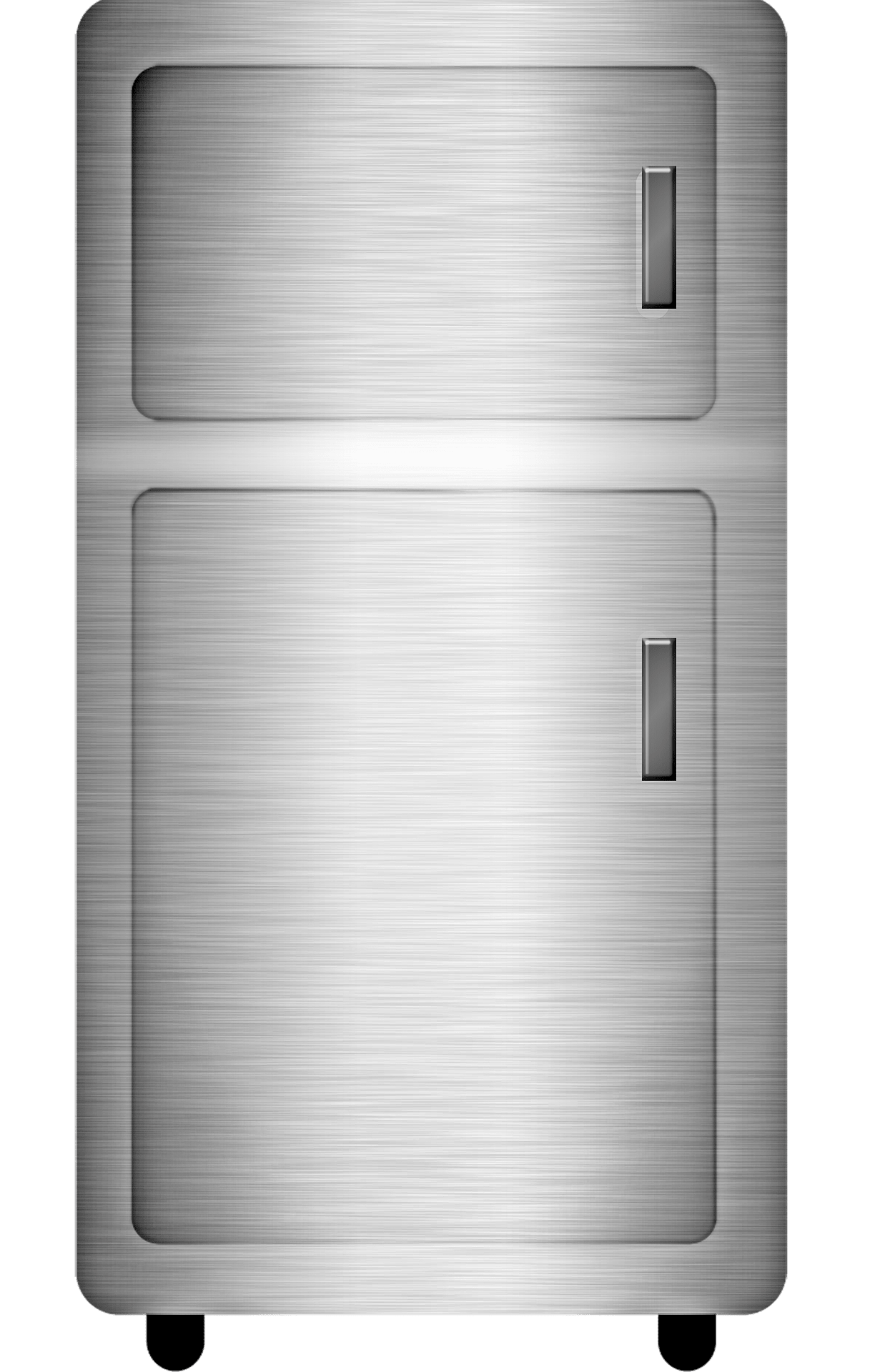 gray fridge