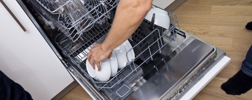 filled dishwasher