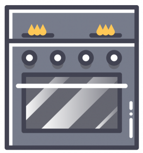 graphic of an oven