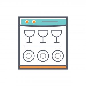 dishwasher vector graphic