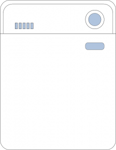vector image of a white dishwasher