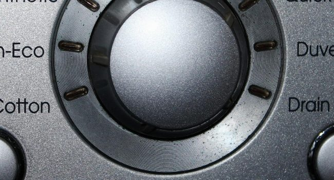 washing machine close up