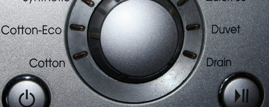 washing machine close up