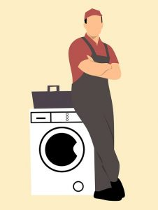 graphic of a washing machine engineer